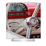 Ford Crown Victoria Stering Wheel Shower Curtain