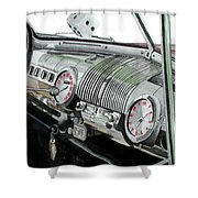Ford Dash Shower Curtain