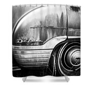 Ford Deluxe Fender Black And White Shower Curtain