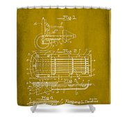Ford Engine Lubricant Cooling Attachment Patent Drawing 1d Shower Curtain
