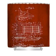Ford Engine Lubricant Cooling Attachment Patent Drawing 1g Shower Curtain