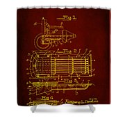 Ford Engine Lubricant Cooling Attachment Patent Drawing 1h Shower Curtain