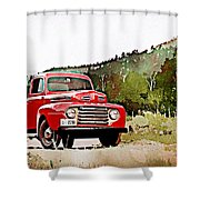 Ford F-1 Shower Curtain