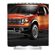 Ford F150 Svt Raptor Shower Curtain