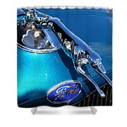 Ford Greyhound Hood Ornament Shower Curtain