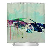 Ford Gt Watercolor 2 Shower Curtain by Naxart Studio