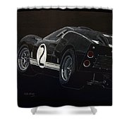 Ford Gt40 Racing Shower Curtain