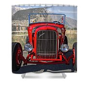 Ford Hiboy Hot Rod Shower Curtain