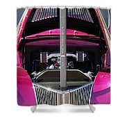 Ford Hot Rod Grille Shower Curtain