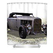 Ford Hot Rod Roadster Shower Curtain