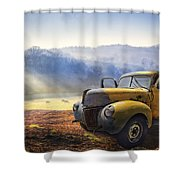 Ford In The Fog Shower Curtain