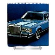 Ford Lincoln Versailles 1981 - American Dream Cars Catus 1 No. 2 H B Shower Curtain