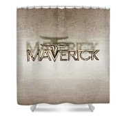 Ford Maverick Badge Shower Curtain
