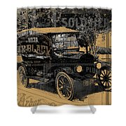 Ford Model T Made Using Found Objects Shower Curtain