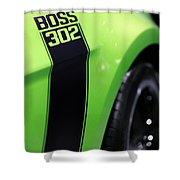 Ford Mustang - Boss 302 Shower Curtain by Gordon Dean II