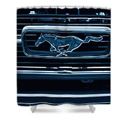 Ford Mustang Grille Shower Curtain