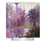 Ford Park-cloudy Morning Shower Curtain