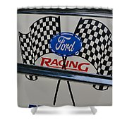 Ford Racing Emblem Shower Curtain