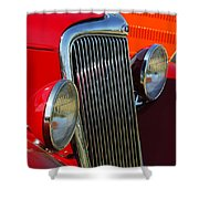 Ford Roadster Grille Shower Curtain