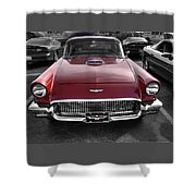 Ford Thunderbird Red V1 Shower Curtain