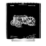 Ford Tractor Patent 1919 Black Shower Curtain