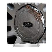 Ford Trucking Shower Curtain