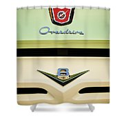 Ford V8 Pickup Emblem Shower Curtain