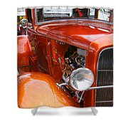 Ford V8 Right Side View Shower Curtain