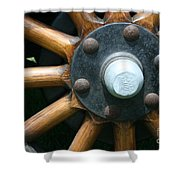 Ford Wagon Wheel Shower Curtain