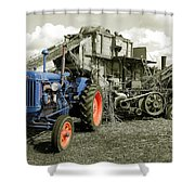 Fordson And The Threshing Machine Shower Curtain