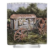 Fordson Model F Shower Curtain by Sam Sidders