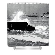 Foreboding Tide Shower Curtain
