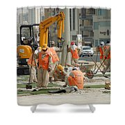 Foreign Workers - Manama Bahrain Shower Curtain