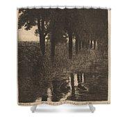 Forellenweiher (trout Pond) Shower Curtain