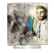 Forensic Analysis With Crime Scene Intelligence Shower Curtain