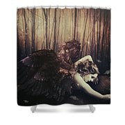 Forest Angel Shower Curtain