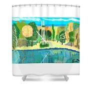 Forest At The Shore Shower Curtain
