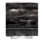 Forest Behind The Wall Shower Curtain
