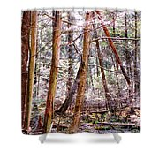 Forest Bling Shower Curtain