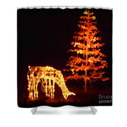 Forest Christmas Shower Curtain