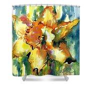 Forest Daffodil In Rain Shower Curtain