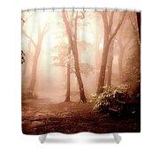 Forest Fog Shower Curtain