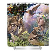 Forest Friends 2 Shower Curtain