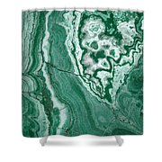 Forest Green Marble Shower Curtain