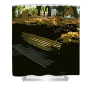 Forest Gump's Bench Shower Curtain