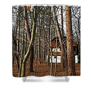 Forest House Shower Curtain