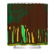 Forest In The Hidden Shower Curtain