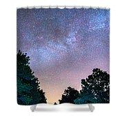 Forest Night Light Shower Curtain