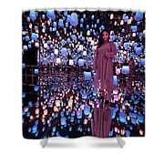 Forest Of Resonating Lamps Shower Curtain
