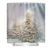 Forest Of Trees In The Light Shower Curtain